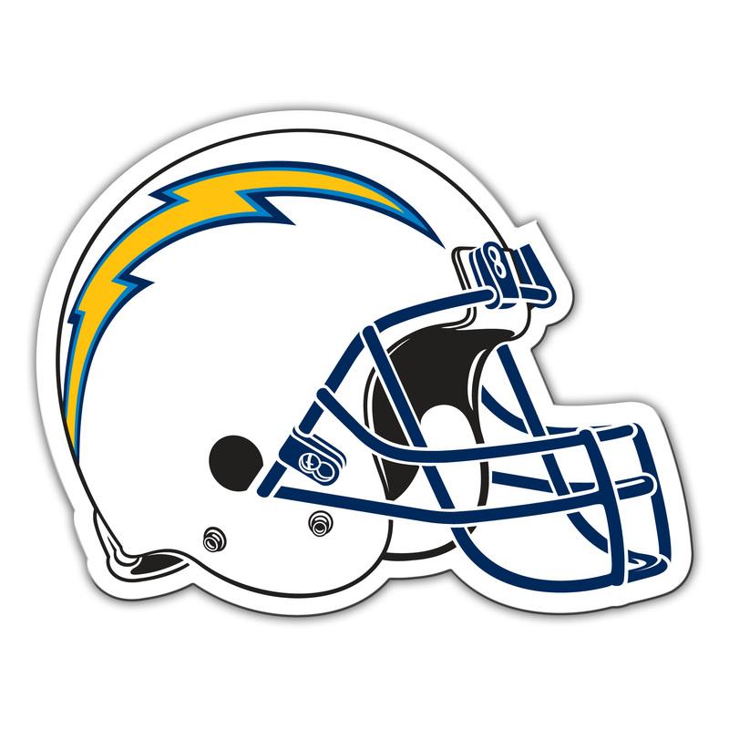 Chargers 8 Quot Helmet Magnet