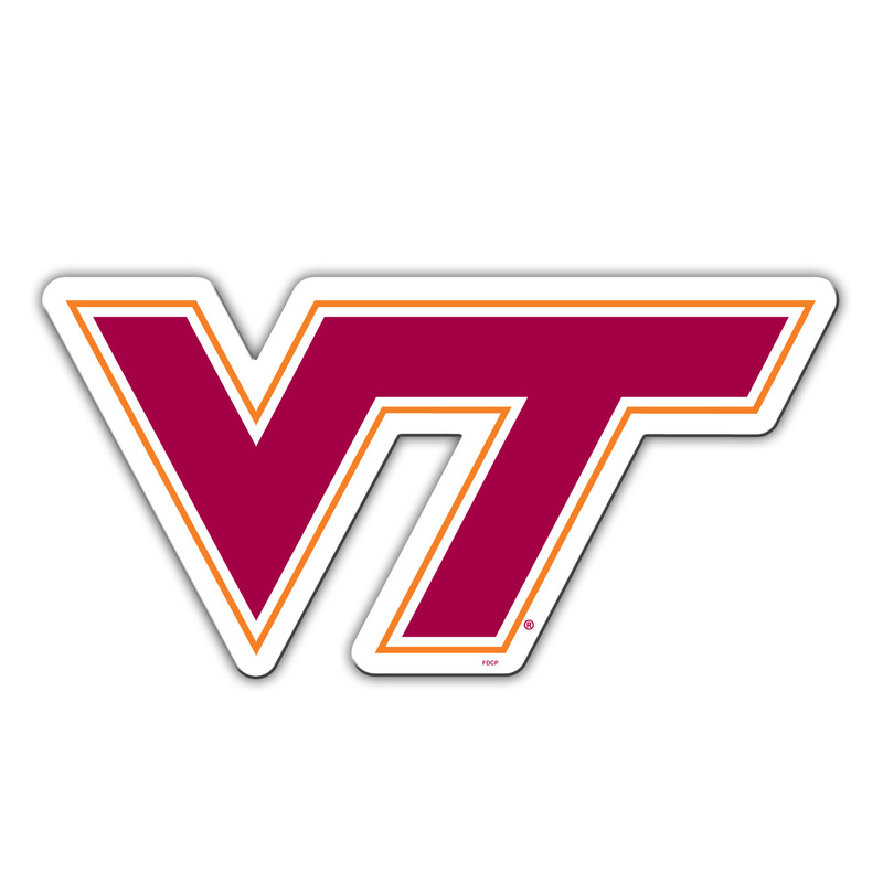 "Used Cars Roanoke Va >> Virginia Tech 12"" Logo Magnet"