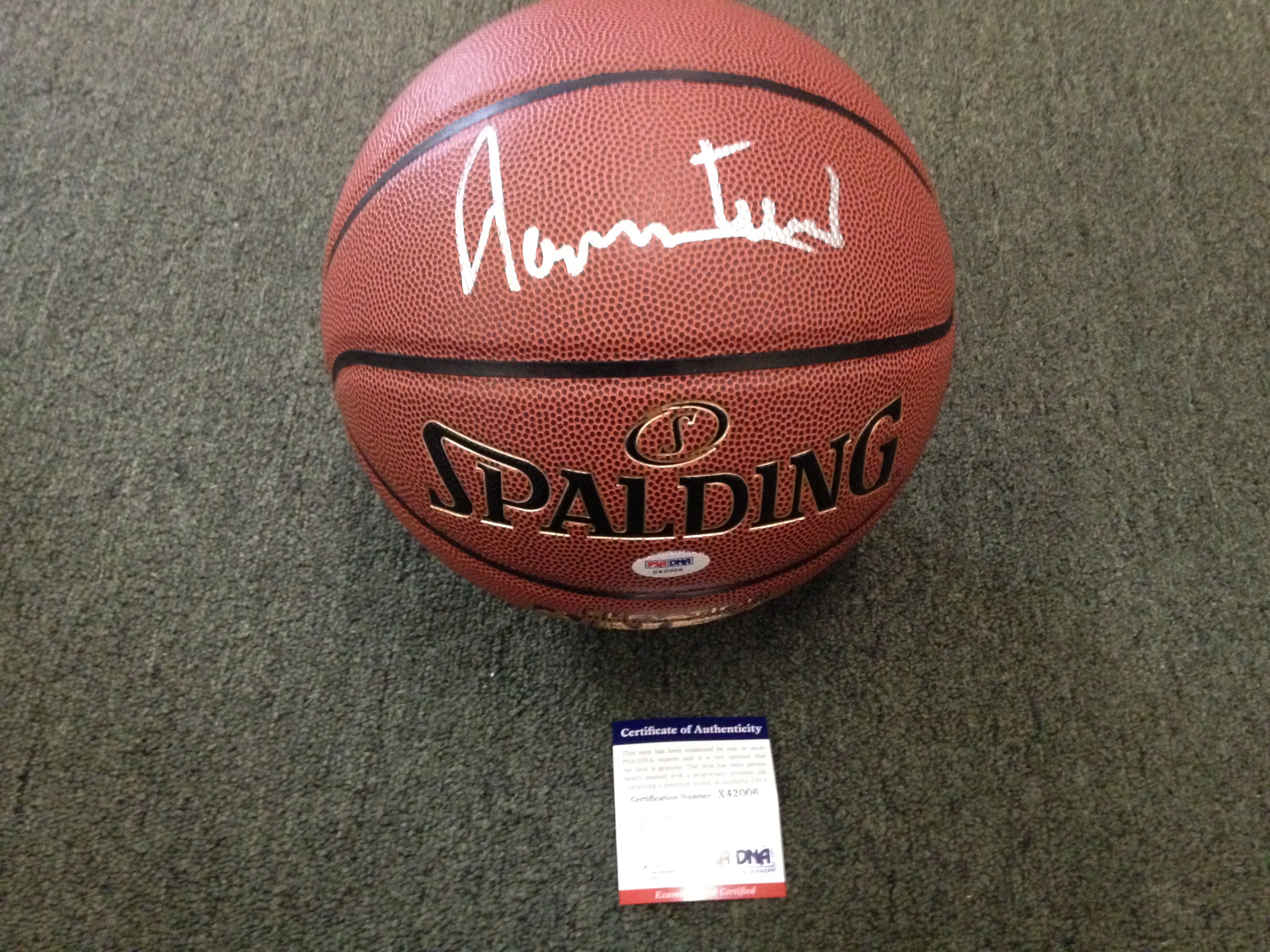 Jerry West Autographed Basketball